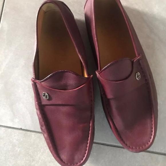 58b1a07df Gucci Shoes   Burgundy Driver For Saleeeee   Poshmark